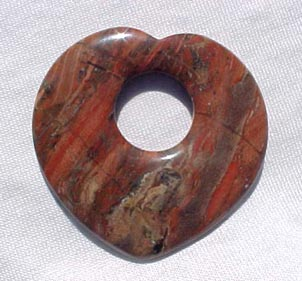 Breciated Jasper Heart Donut 45mm